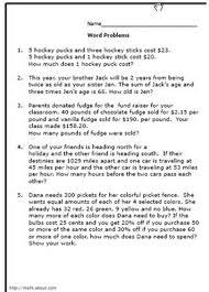 Collections of Math Word Problems For 5th Grade, - Easy Worksheet ...