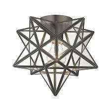 Moravian Star Light Outdoor Sterling 1145 005 Moravian Star Flush Mount Ceiling Fixture