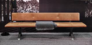 Bank Lax Mit Rückenlehne 240 Cm Leder 2 Farbe 2600
