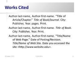 powerpoint infopage works cited