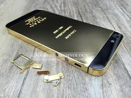 iphone 5s gold and black. 24k gold housing for iphone 5 back mirror 24k 5s plate with retail gift box free tpu case-in accessory bundles from and black a