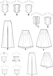 Corset Pattern Free Stunning New Look 48 Juniors Corset Top Pants And Skirt