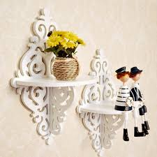 Wood Carved Wall Decor Furniture Stylish Wall Display Bookcase For Interior Wall