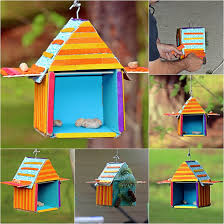 how to make bird houses with popsicle sticks