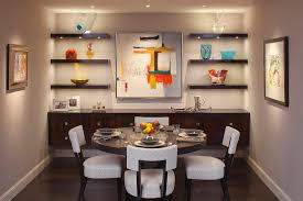 awe inspiring floating glass shelves wall mount decorating ideas images in dining room contemporary design