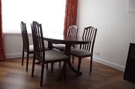 gany dining room suite and six chairs