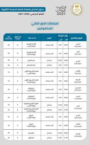 بالمواعيد.. جدول امتحانات الدور الثاني للثانوية العامة (مكفو –