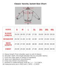 And1 Clothing Size Chart Jacket Sizing Chart School Awards Apparel Corporate