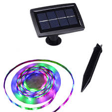 Led Lights Self Adhesive Solar Strip Led Lights Outdoor Auto On Off 2 Light Modes Flexible And Cuttable Self Adhesive 5m 150leds Multi Color Garden Decorative Light Strip