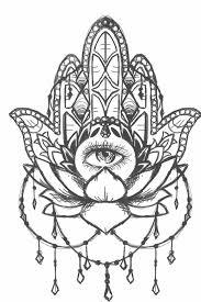 Hamsa Lotus Sketch By Sailorinky On Deviantart Tattoos Tatouage