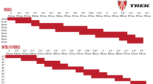 Trek Hybrid Bike Size Chart 52 Clean Trek Frame Size Chart