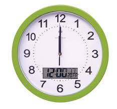 wall clock for office. Large Decor Lcd Digital Office Wall Clock Calendar,day Date Dual Time For