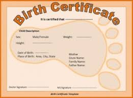 Birth Certificate Template Pdf Blank Certificates