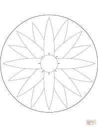 Easy Mandala Coloring Pages Csengerilawcom