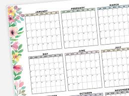 November 2020 Calendar Landscape Printable 2020 Calendar Landscape 2020 Calendar 2020 Planner Monthly At A Glance 2020 Year 2020 Digital Calendar 2020 Wall Calendar