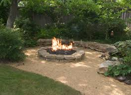 Fire Pit Circle With Stepping Stone Path  Backyard Ideas Backyard Fire Pit Area