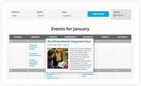 event calendar the events calendar