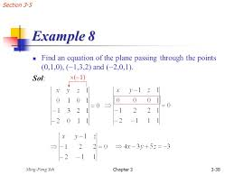 section 3 5 example 8 find an equation of the plane passing through the