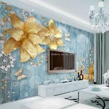 Luxury Wallpaper For Bedrooms Luxury Golden Flower Wallpaper Custom 3d Wallpaper For Walls