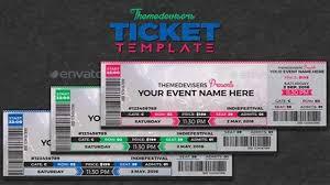 Concert Ticket Layout Amazing Ticket Template Psd Rjengineeringnet