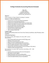 Example Of Resume Accounting Resume Sample For Fresh Graduate Accounting Template Idea Cpa Resume 24