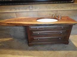 reclaimed wood bath vanity farm sink kohler bathroom