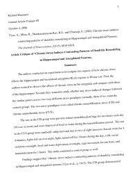 sample article critique apa format article critique example apa effortless snapshot format essay sample