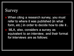how to cite an interview mla format citing surveys interviews graphs ppt video online download
