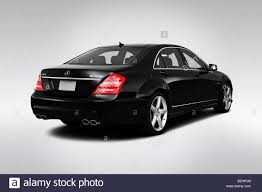 2010 Mercedes-Benz S-Class S63 AMG in Black - Rear angle view ...
