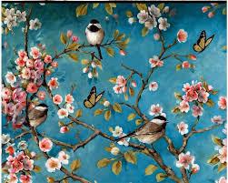 Beibehang خلفية مخصصة 3d الصينية نمط الزهور و الطيور خلفية دهان