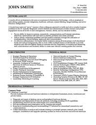Network Analyst Resume