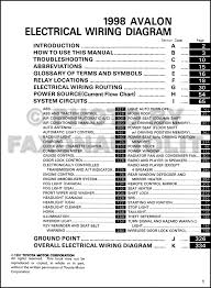 98 avalon wiring diagram wiring diagram for you • 1998 toyota avalon wiring diagram manual original rh faxonautoliterature com 98 avalon spark plug wire diagram 98 toyota avalon xls radio wiring diagram