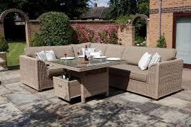 contemporary patio decoration using ohana patio furniture plus brick wall viewing gallery