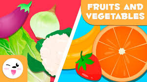 Learn <b>Fruits And Vegetables</b> - Vocabulary For Kids - YouTube