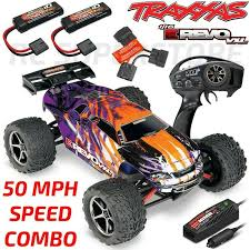 Details About Traxxas 1 16 E Revo Vxl Brushless 4wd Rtr Rc Truck Purple 50mph Combo Package