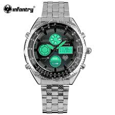 aliexpress com buy infantry mens watches luxury russian aviation aliexpress com buy infantry mens watches luxury russian aviation watch for men full steel strap navy blue watches dual time chronograph waterproof from