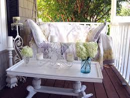 Outdoor Table Decor Attractive Outdoor Shabby Balcony Ideas Featuring Ravishing Wooden