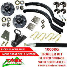 details about diy single axle trailer kit 1000kg slipper springs 63 79 trailer diy kit box