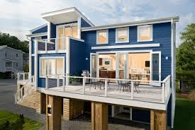 Modern Awesome Design Of The Cool Houses That Has Blue And White