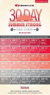 Bowflex Exercise Wall Chart 30 Day Bowflex Summer Strong Challenge Bowflex Workout