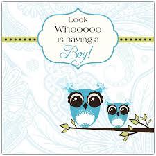 Boys Baby Shower Invitation Owl Theme Blue Yellow GrayOwl Baby Shower Invitations For Boy