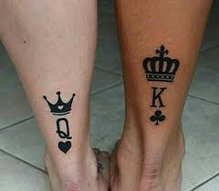 81128132 King And Queen Tattoos Best Couple Tattoo Ideas