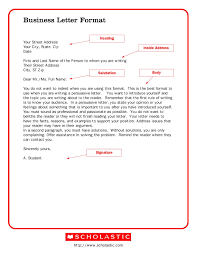Sample Business Letters Format Printable Sample Business Letter Template Form Forms And Template