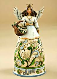 April Birthday Month Angel by Jim Shore Heartwood Creek from Enesco