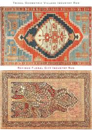 rug designs. Geometric Tribal Village Rug Vs Floral City Made Persian By Nazmiyal Designs