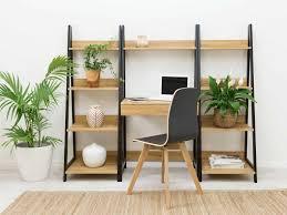 urban furniture melbourne. Mocka Urban Ladder Shelf - Black With Desk, Harper Chair And Ruby Rug Furniture Melbourne