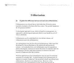 explain the difference between act and rule utilitarianism  document image preview