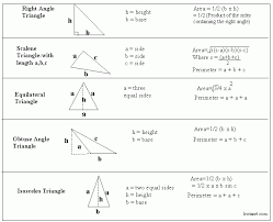 geometry 4 40 formulas area of triangles