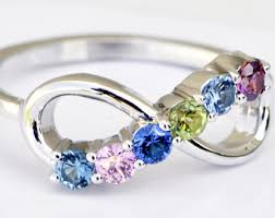 infinity mothers ring. infinity birthstone ring, custom infinity, multi jewelry, mothers ring a