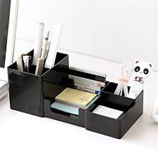 amazon com doris batchelor nice desktop shelves storage box desk decor stationery makeup cosmetic organizer for jewelry stationery black office s